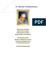 Biography of Master E.K. (Dr Ekkirala Krishnamacharya) by Dr. Parvathi Kumar