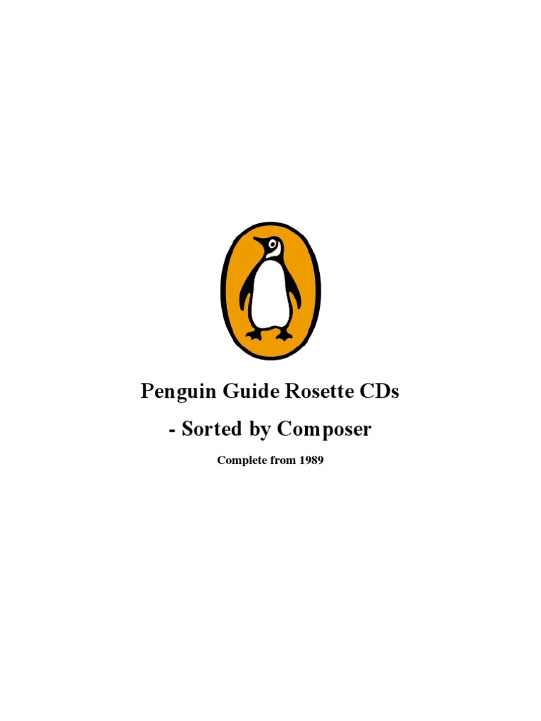 Penguin Guide Rosette CDs | Concerto | The Well Tempered Clavier
