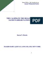 The Caliphate the Hejaz and the Saudi-wahhabi Nation-state