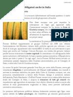 Ogm, La Sentenza, Obbligatori Anche in Italia