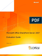 Share Point Server 2007 Evaluation Guide
