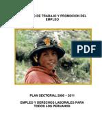 Plan Sectorial Mtpe 2006 2011[1]