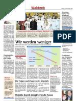 Der demografische Wandel in Waldeck-Frankenberg