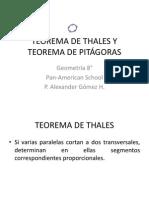 TEOREMA DE THALES Y TEOREMA DE PITÁGORAS