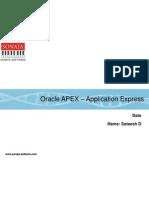 APEX - A Web Based Application Development Tool