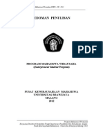 Pedoman Penulisan Pmw-ub 2012 New