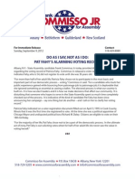 Commisso for Assembly Press Release - Fahy Voting Record A
