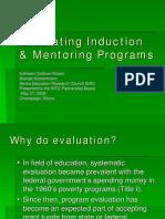 Evaluating Induction Mentoring Programs May09