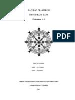 Laporan Praktikum Sistem Basis Data