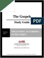 The Gospels - Lesson 2 - Study Guide