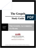 The Gospels - Lesson 3 - Study Guide