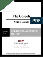 The Gospels - Lesson 5 - Study Guide