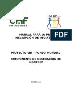 Manual Preinscripcion de Iniciativas