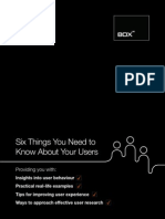 Six Things You Need to Know About Your Users
