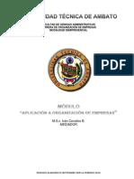 Libro Guia de Aplicación de  Organización de Empresas