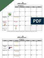 2012-2013 Religious School Calendar