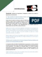 DECALOGO REIVINDICACIONES -ActuAcción- 11-09-2012