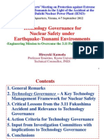 Technology Governance foe Nuclear Safety under Earthquake-Tsunami Environments