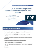 Robustness of Russian Design NPPsAgainst Extreme Earthquakes AndTsunami