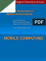 Context-Awareness in Mobile Environments