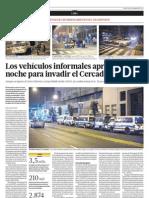 Los vehículos informales aprovechan la noche para invadir el Cercado de Lima