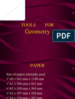 Manual Drafting Tools for Engineering Drawing