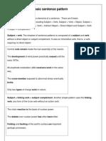 Basic Sentence Pattern