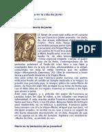 La Virgen María en la vida de Javier
