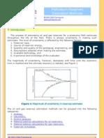 Reserve Estimation Methods