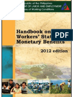 Handbook of Statutory Monetary Benefits (DOLE 2012 Edition)