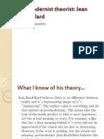 Postmodernist Theorist Jean Baudrillard