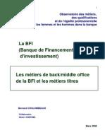 métiers BFI