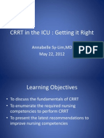 CRRT in the ICU - Getting It Right