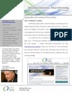LTI Newsletter - Sept 2012