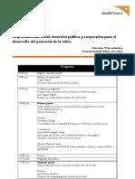 Foro 2012 Responsabilidad social - inversión pública y corporativa para el desarrollo del potencia de la niñez