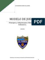Modelo de Juego Victor Borrego