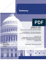US Comm on Oversight and Gov Reform_Minorities and the Economic Downturn