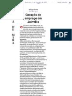 AN - Geração de emprego em Joinville - Alça de Mira