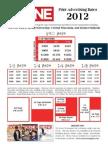 2012 Scene Newspaper Print Rate Card