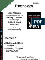 Chapter 7 - Attitudes & Behaviour