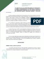 Instrucciones 2012 Tratamiento de La LECTURA