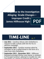 Hillhouse Response to Grade Tampering - Slide Show