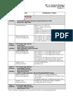 Course Schedule Spring 2009 Rbt121 v1.3