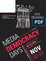 Media Democracy Days 2012 Programme Guide