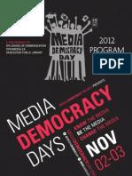 Media Democracy Days 2012 Programme Guide