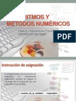 Clase 4 - Instrucciones Primitivas y Estructura de Algoritmos