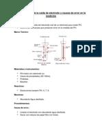 Determinación de la caída de electrodo y causas de error en la medición