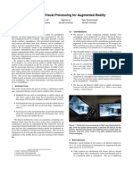 Distributed Visual Processing for Augmented Reality