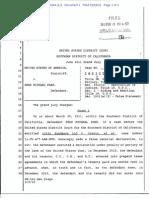 Sean Michael Park's Felony Indictment