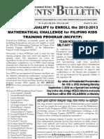 Parents Bulletin No. 10, s. 2012